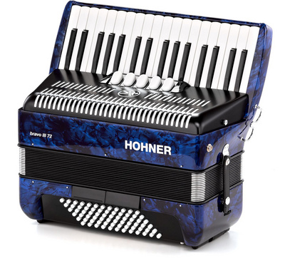 Hohner Bravo III 72 Blue