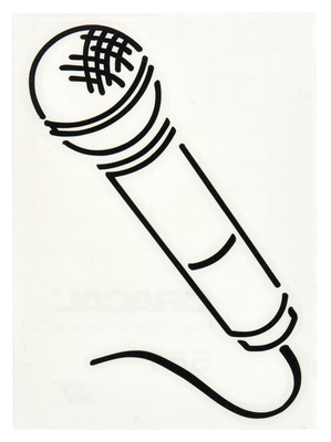 Design-Studio Worms Sticker Microphone Anthracite