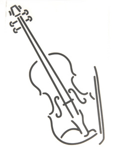 Design-Studio Worms Sticker Violin Anthracite