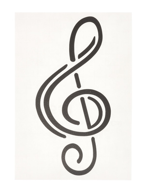 Design-Studio Worms Sticker Treble Clef Anthacite1