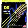 DR Strings HiDef Neon Yellow Lite NYE-9