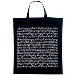 Vienna World Cotton Bag Music Design Black