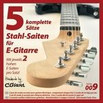 C.Giant E-Guitar String Set 5 pcs
