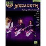 Hal Leonard Bass Play-Along Megadeth