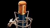 Microphone large membrane à condensateur