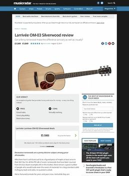 Larrivée OM-3 Swamp Ash