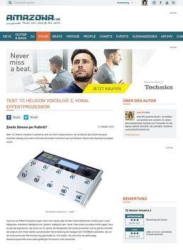 Test: TC Helicon Voicelive 3, Vokal Effektprozessor