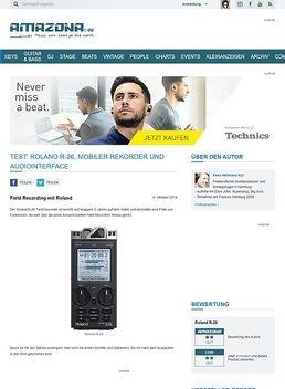 Test: Roland R-26, Mobiler Rekorder und Audiointerface