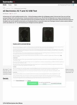 sE Electronics X1 T und X1 USB