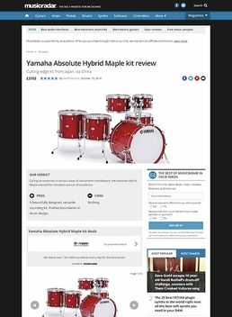 Yamaha Absolute Hybrid Maple kit