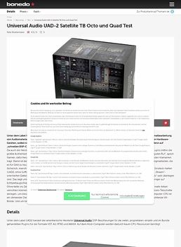 Universal Audio UAD-2 Satellite TB Octo und Quad