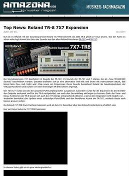 Top News: Roland 7X7-TR8 Drum Machine Expansion