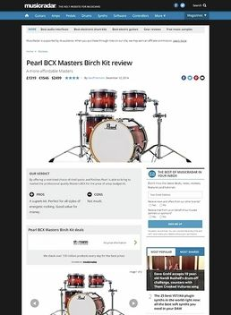 Pearl BCX Masters Birch Kit