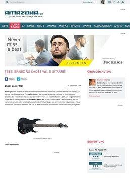 Test: Ibanez RG Kaoss WK, E-Gitarre