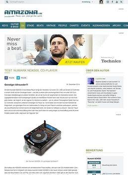 Test: Numark NDX500, CD-Player
