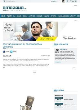 Test: Neumann U 87 Ai, Großmembran Mikrofon