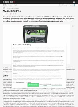 Mackie DL32R Test