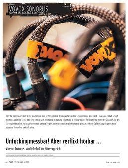 Vovox Sonorus - Audiokabel im Hörvergleich
