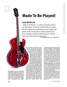 Guild Starfire III, E-Gitarre