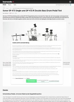 DP 472 R Double Pedal