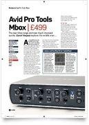 Mbox Pro + Pro Tools