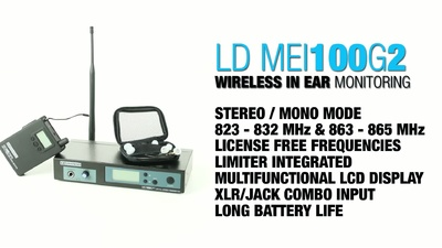 LD Systems MEI 100 G2: Wireless InEar-System