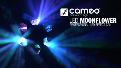 Cameo Moonflower 9W - Tri Colour LED Spot