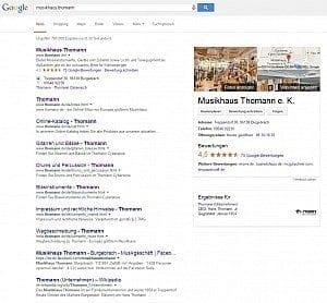 Rundgang oben rechts bei Google