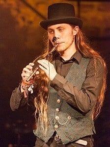Dominik on stage