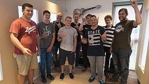 v. l.: Dominik, Florian, Benschi, Leon, Felix, Michael, Jannik, Benoît und Christian