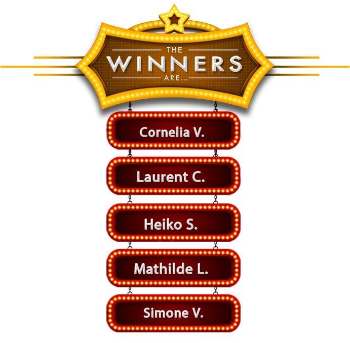 Die Gewinner, die beim Voting einen 50-Euro-Thomann-Gutschein gewonnen haben! Herzlichen Glückwunsch!