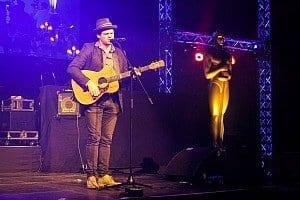 Oscar on stage @Thomann-Weihnachtsfeier