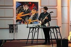 """Oscar als Dozent beim Event """"Erste Hilfe Gitarrenservice"""""""