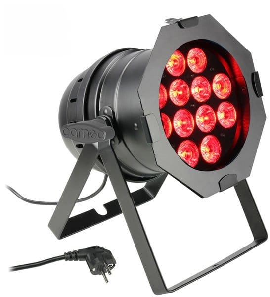 Cameo PAR 64 CAN RGBWA+UV 12x 10W BK