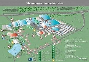 Der Lageplan des Sommerfests 2016
