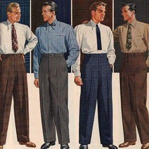 Pantalones de tiro alto