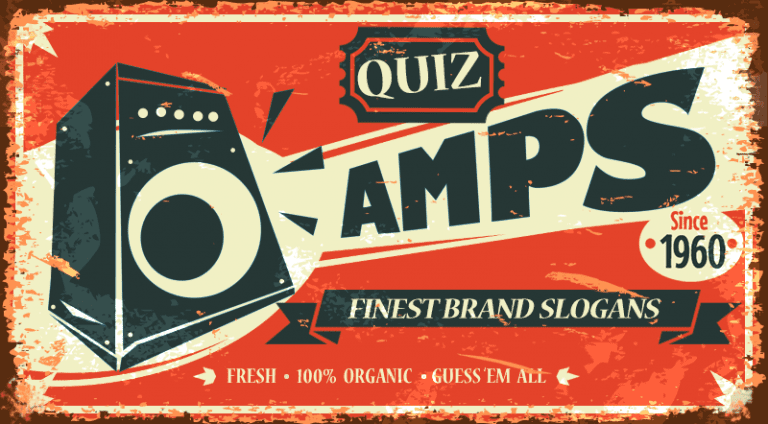 Quiz - Know your slogans: Amps!