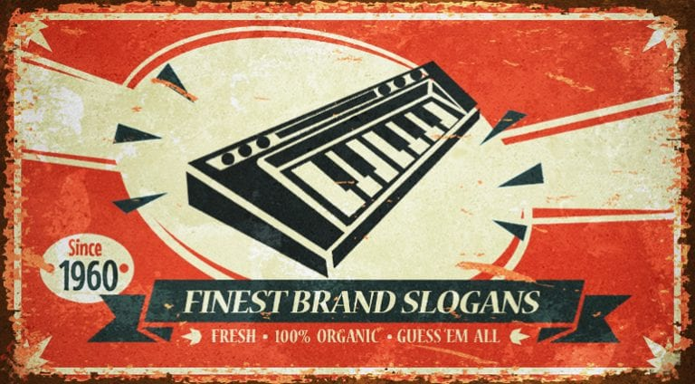 Quiz- Know your slogans: Synths!