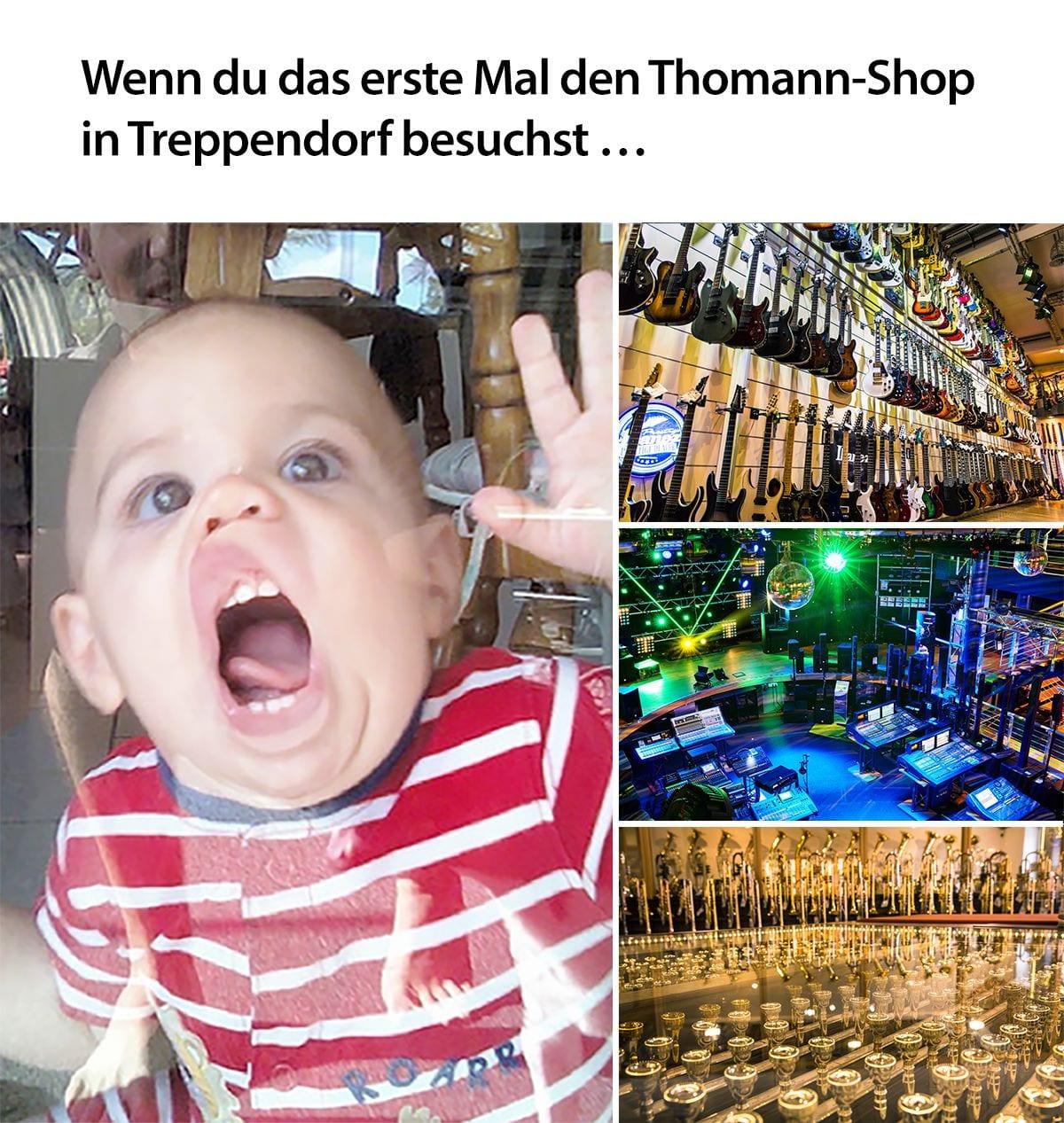 Meme Musik Besuch Treppendorf Thomann Shop Kauf Instrumente