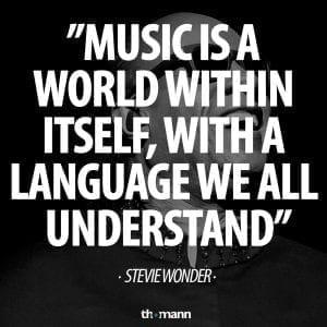 Stevie Wonder quote music language