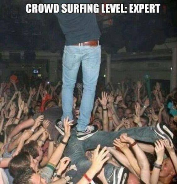 festival crowdsurfing meme