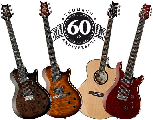special limited edition prs models to celebrate 60 years of thomann thomann uk. Black Bedroom Furniture Sets. Home Design Ideas