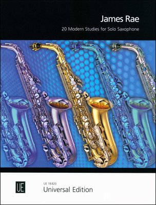 Universal Edition 20 Modern Studies For Solo Sax