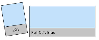 Lee Colour Filter 201 F.C.T. Blue