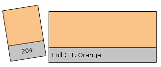 Lee Colour Filter 204 F.C.T.Orange