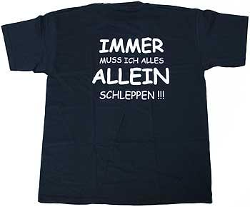 """Thomann T-Shirt """"Immer muss ..."""" XL BK"""