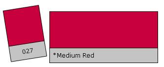 Lee Colour Filter 027 Medium Red