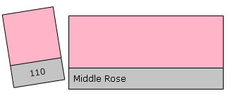 Lee Colour Filter 110 Middle Rose