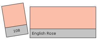 Lee Colour Filter 108 English Rose