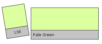Lee Colour Filter 138 Pale Green